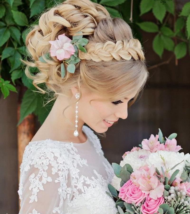 Картинки красивые прически для невест