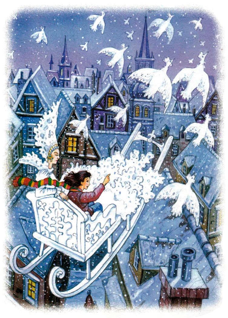 иллюстрации к сказке снежная королева картинки