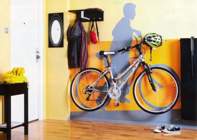 Как припарковать велосипед в квартире: 7 оригинальных идей и шоппинг гид изоражения