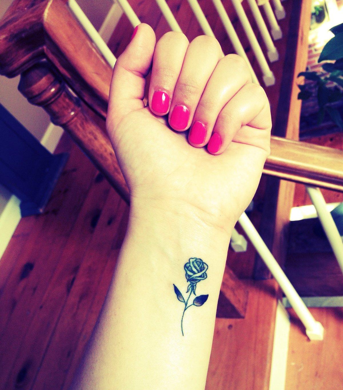 Beautiful Small Rose Tattoos On Wrist Design Idea For Men An Card