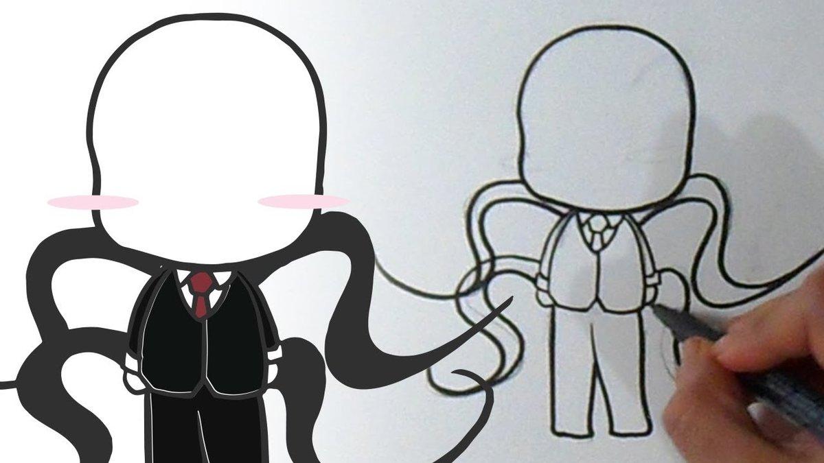 Como Dibujar A Slenderman Kawaii Youtube Card From User