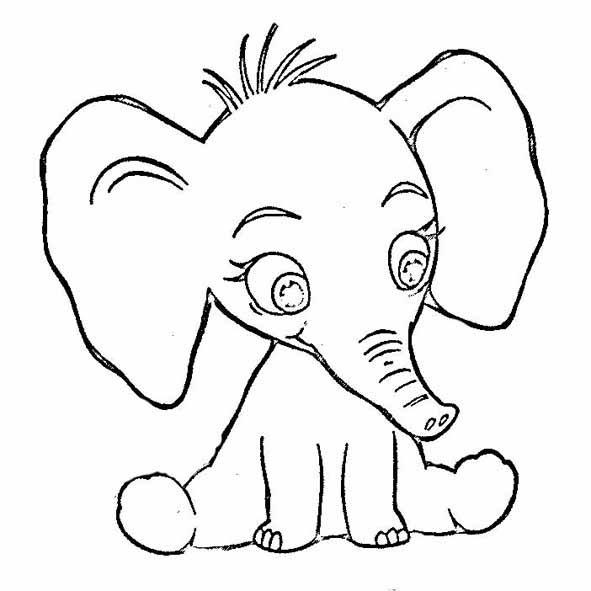 слоники рисунок карандашом вам