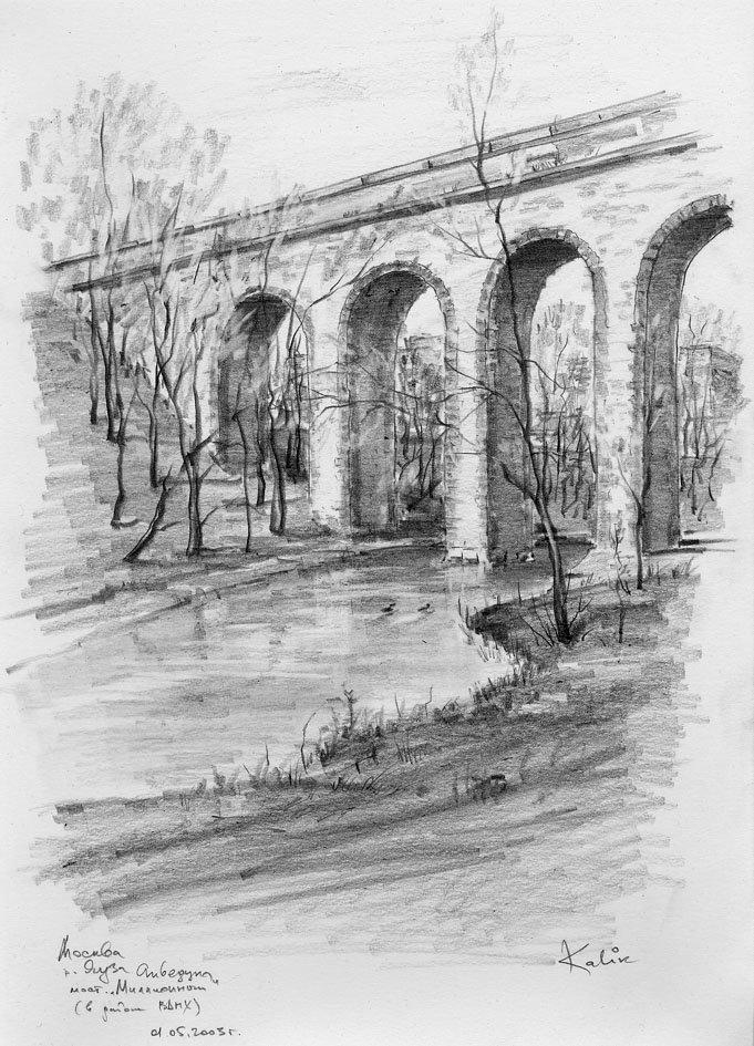 мосты картинки карандаш акцентировал внимание