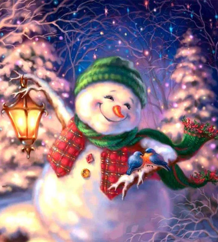 Веселый снеговик)))
