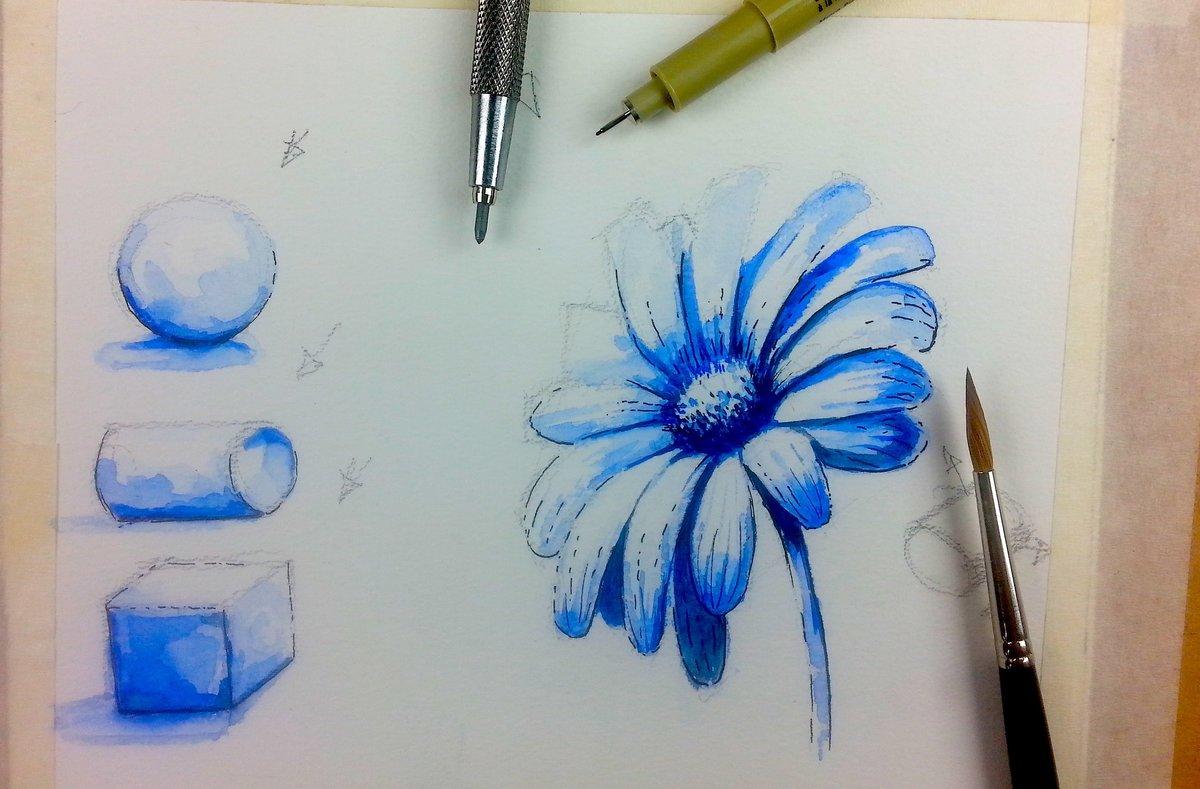 Научиться рисовать открытки акварелью, картинки
