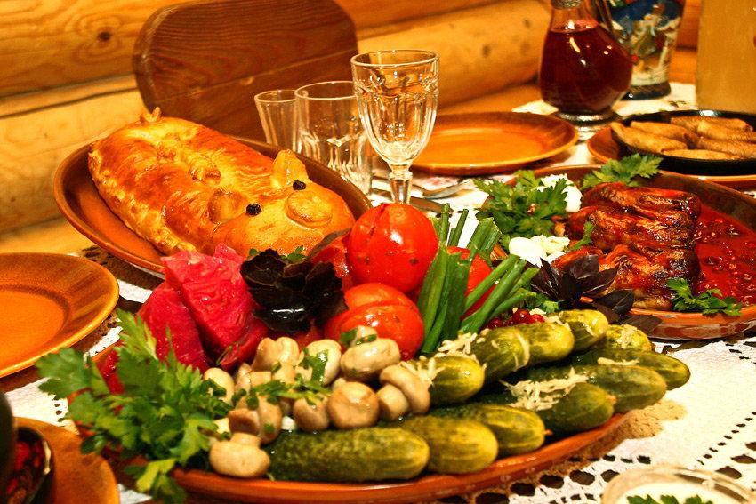 украинский стол с едой картинки тебя держал член