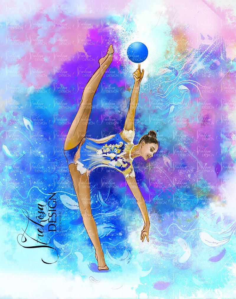 Фото гимнастки нарисованной — 10