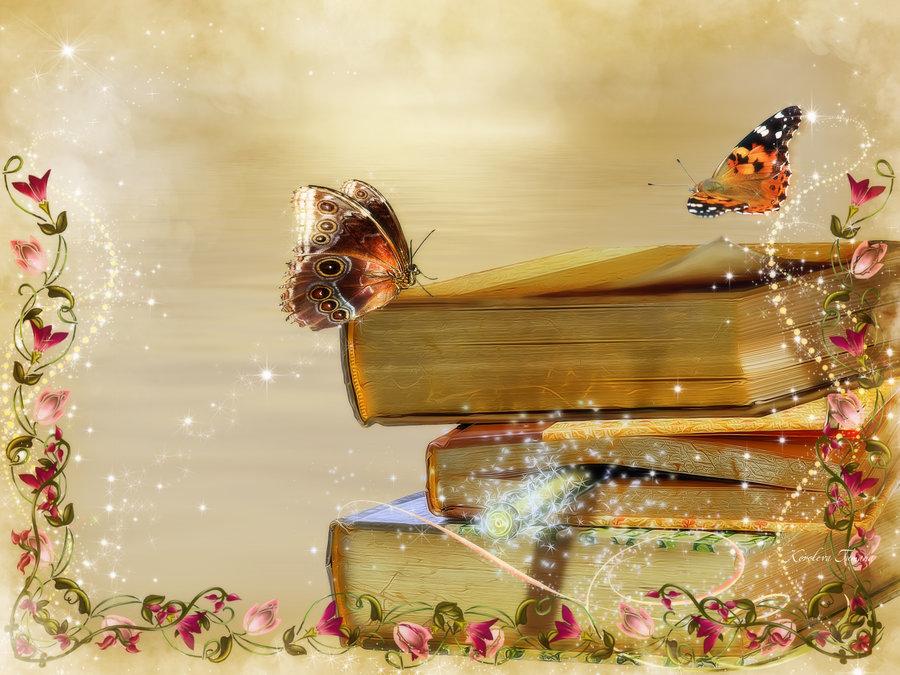Открытка книга сказок