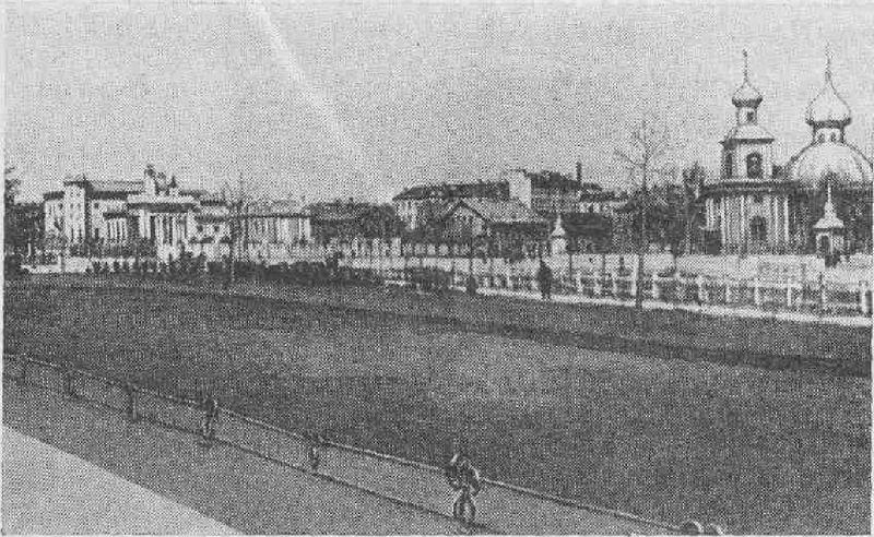 Троицкая площадь накануне Великой Октябрьской социалистической революции.