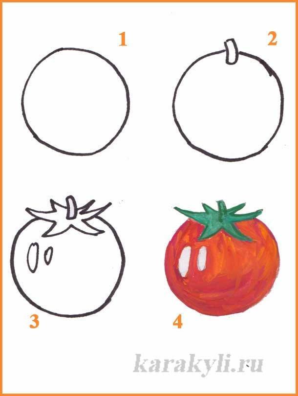 Рисунок фрукты и овощи для детей как нарисовать, картинки