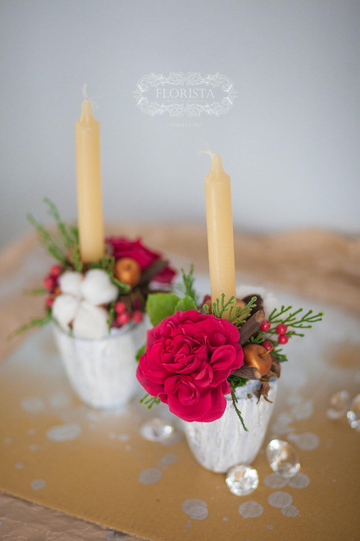 Розы из полимерной гилны