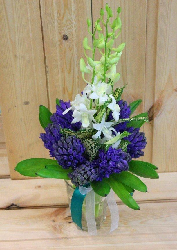 Цветы минске, свадебные букеты из синих гиацинтов