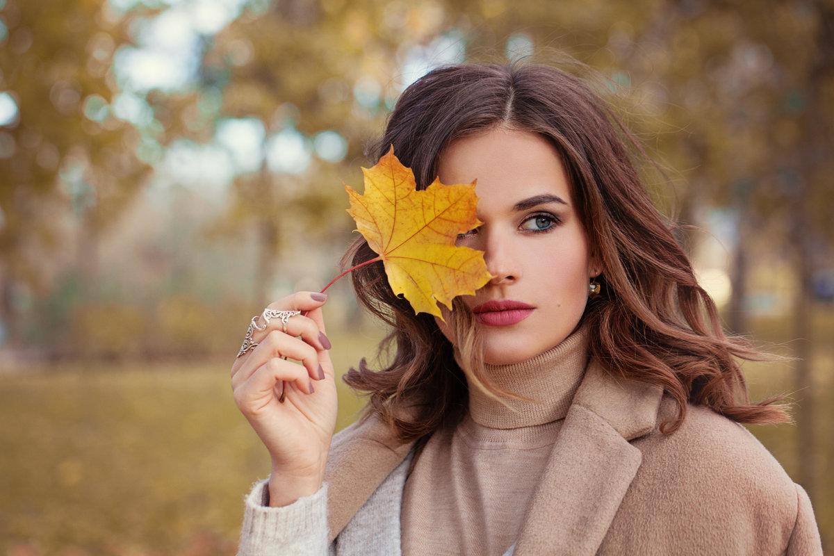 Дню матери, картинки девушка и осень красивые