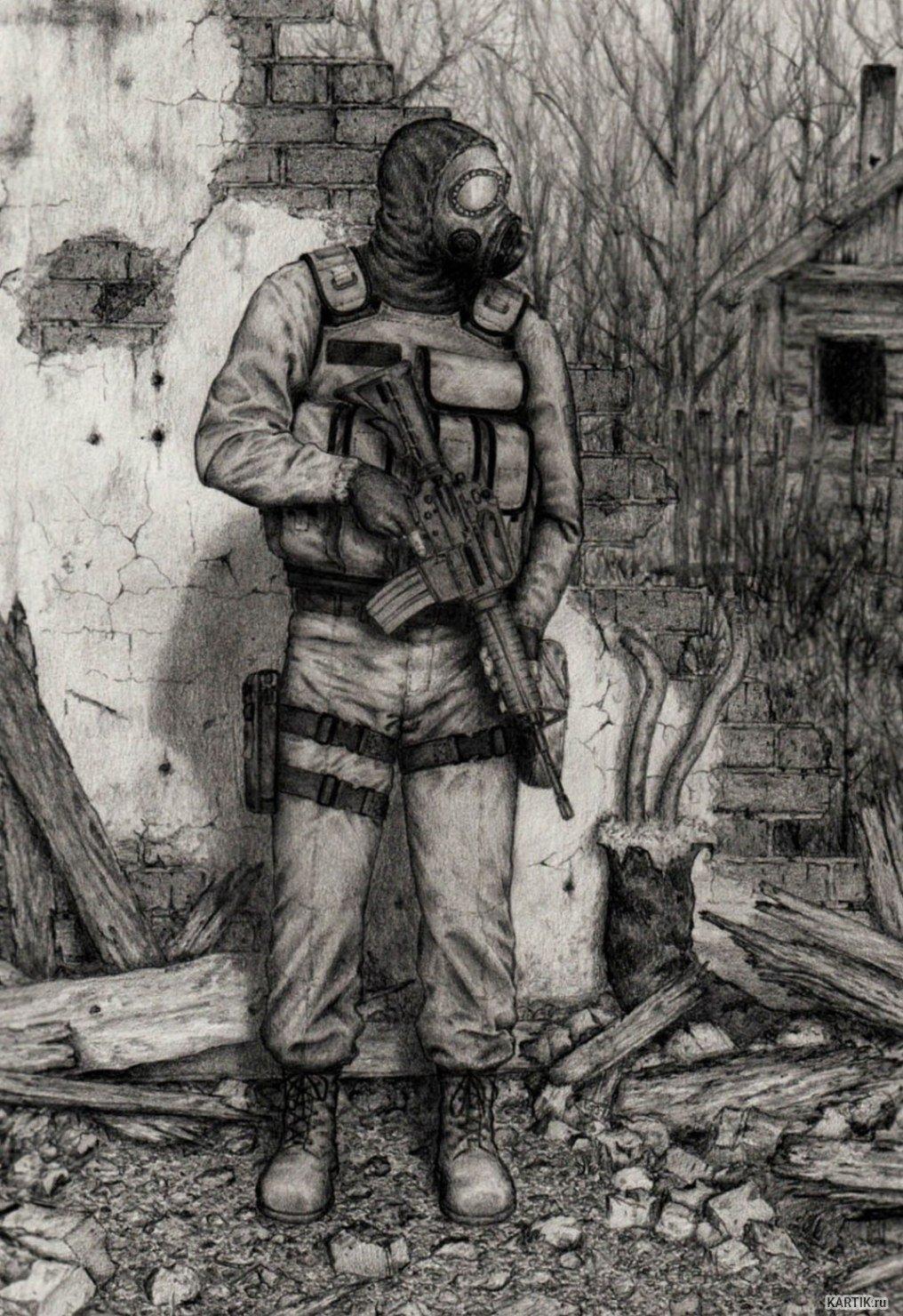 Картинки сталкер нарисовать