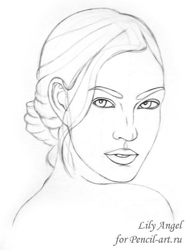 Рисунки простым карандашом лица людей для начинающих