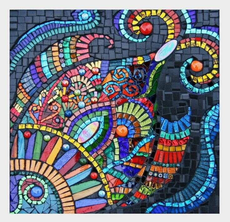 Картинки из мозаики простые