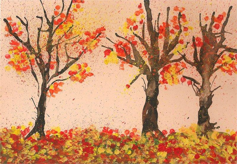 Картинки как нарисовать осеннее дерево