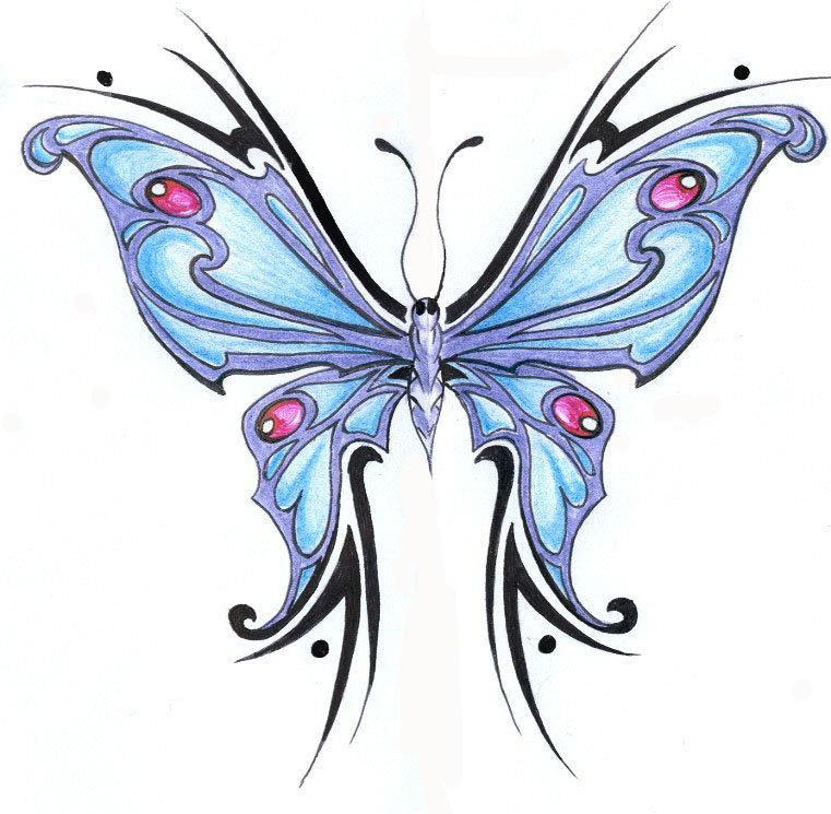 tribal butterfly drawings - 761×745