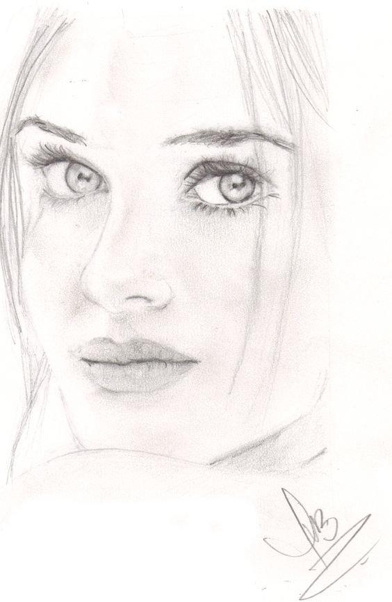 Картинки лица женщины карандашом