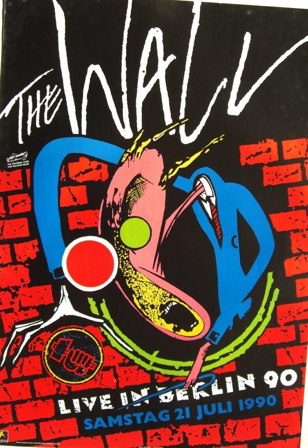 Pink Floyd Live In Berlin 90 U K Poster Teacher Brick Wall O