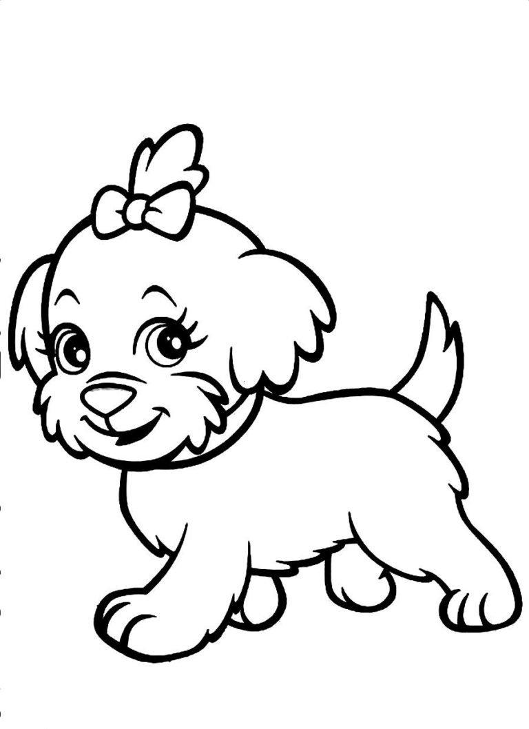 Украсить открытку, картинка с собачкой для детей