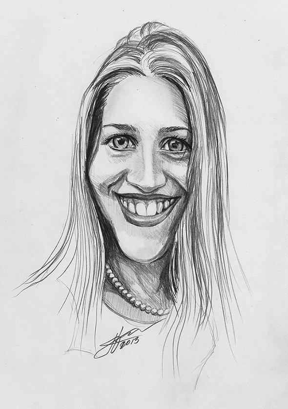Рисунки карандашом прикольные женщины, открытая