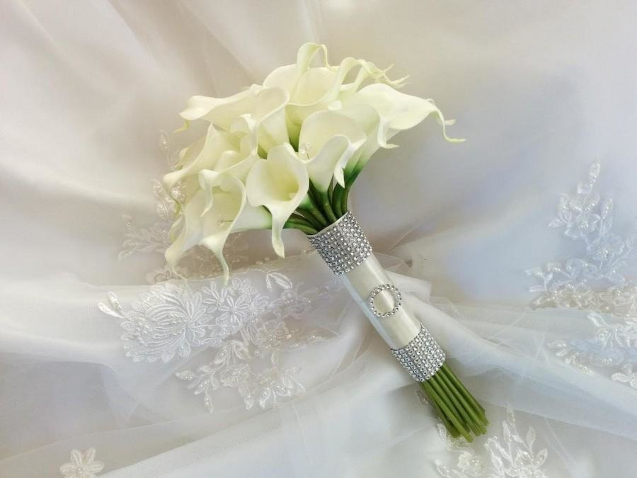 Свадебный букет из калл цена великие луки, букет лилий