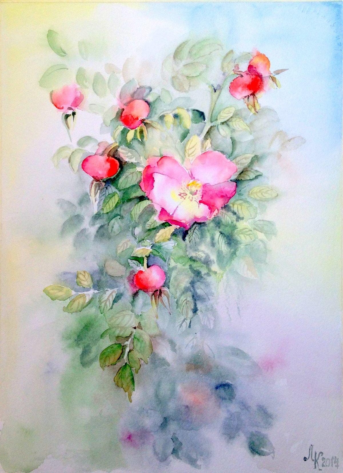 акварельные цветы картинки