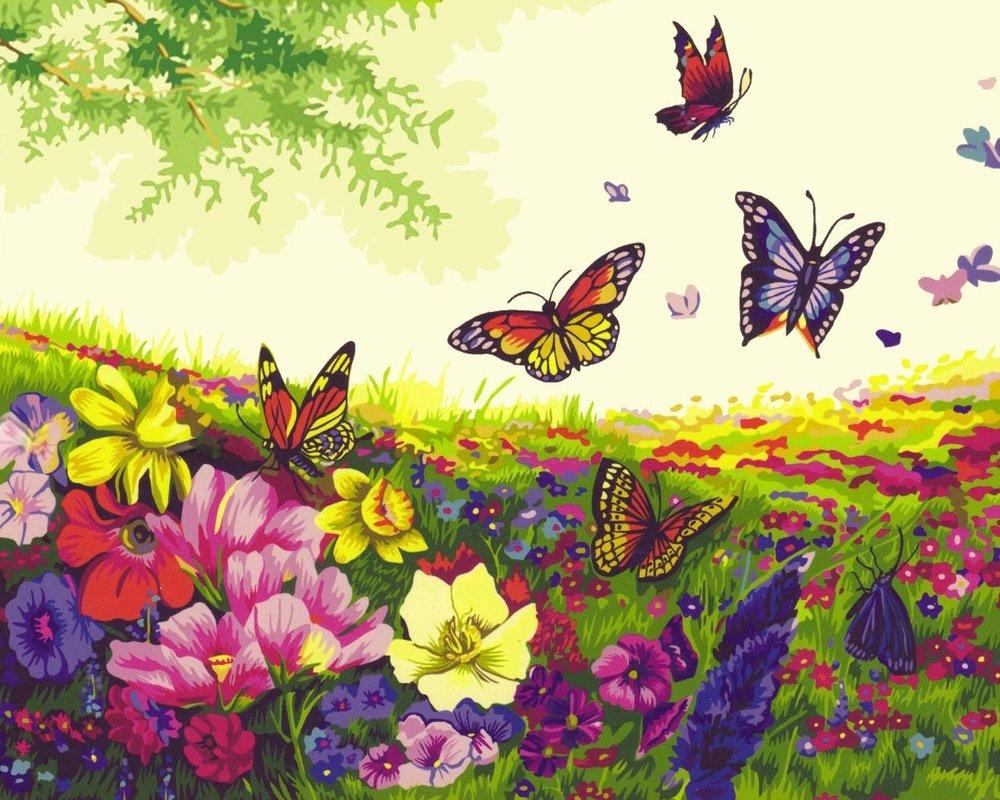 многоэтажных цветочная поляна рисунки картинки годами