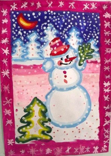 Фон для, нарисовать новогодние открытки своими руками с детьми