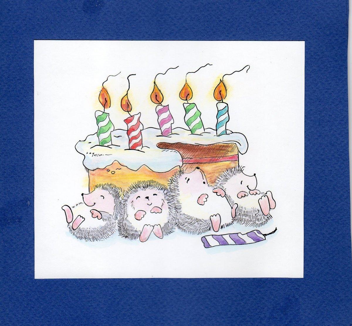 рисунок на открытках с днем рождения своими руками