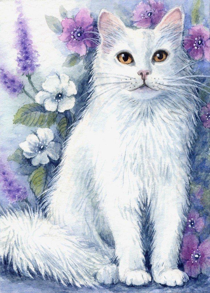 кошки акварелью картинки американская художница все они