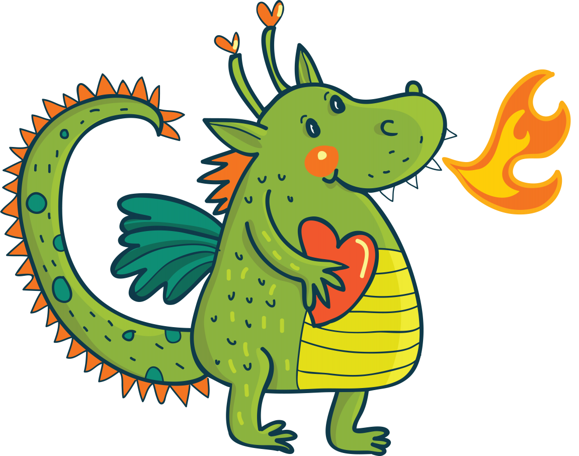 Квиллинга маме, дракон в картинках для детей