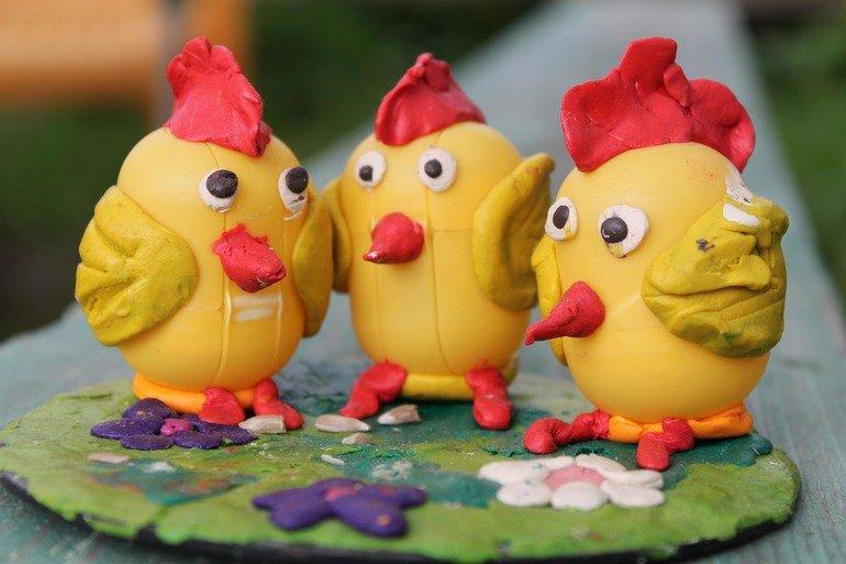 Картинки цыпленка из пластилина определен