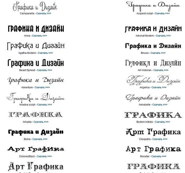 Шрифты для подписания открыток