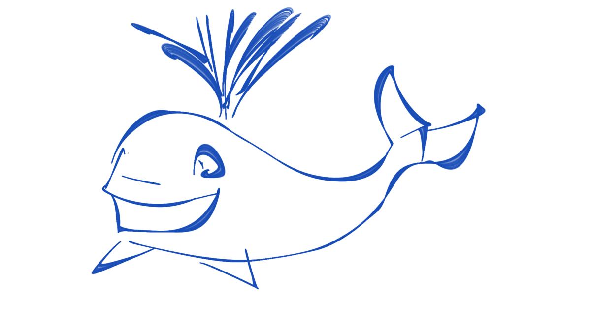итогам синий кит рисунок карандашом поэтапно переработав