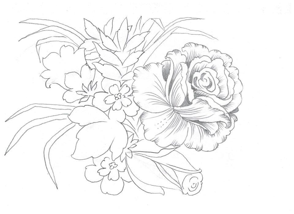 рецепты букет цветов картинки как нарисовать знаешь