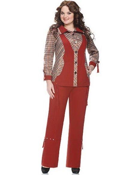 ccaef495a50 Какие бывают брючные костюмы больших размеров для полных женщин  Как  выбрать красивые женские костюмы из