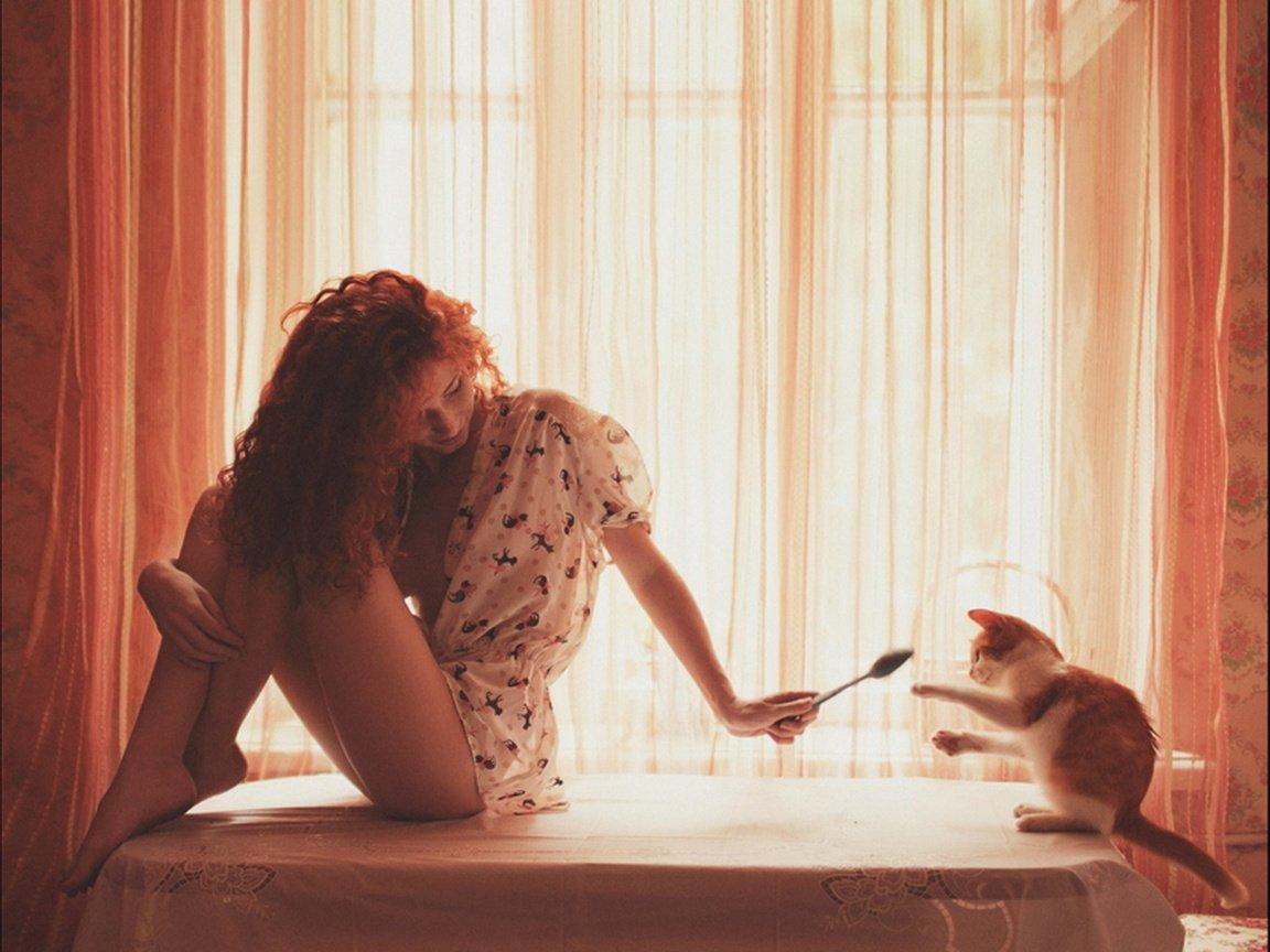 Утренние смешные картинки женщине красивые