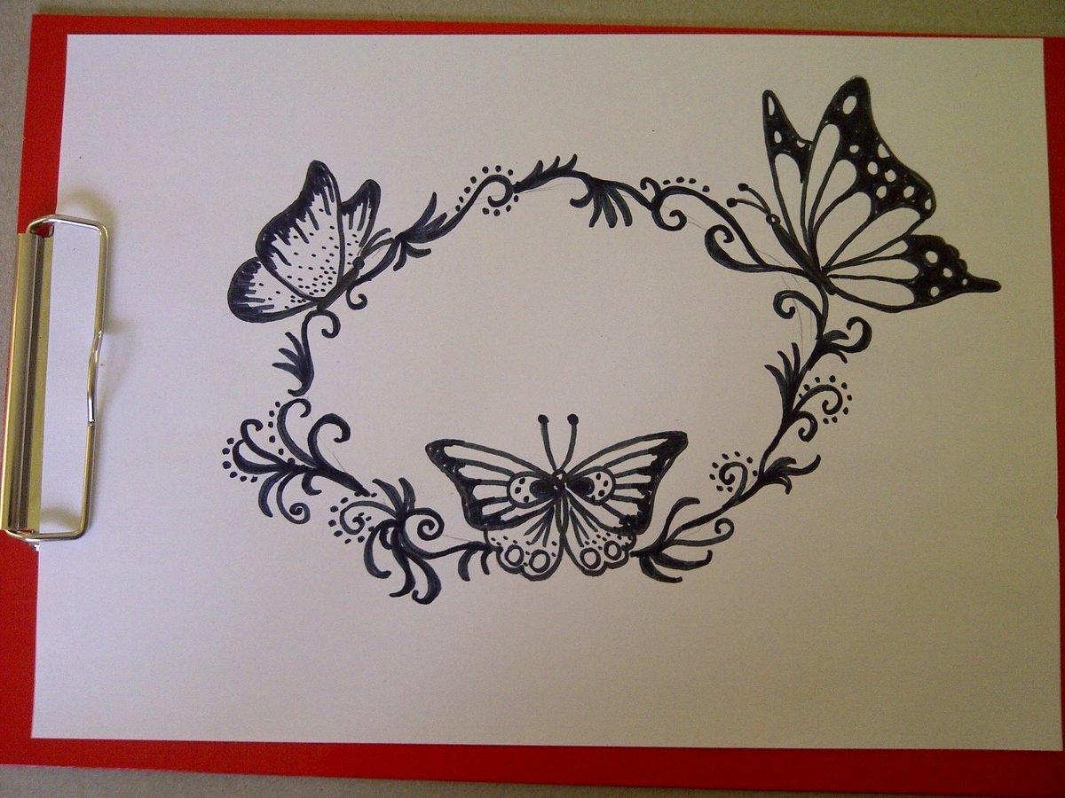 Нарисовать узор на открытке картинка