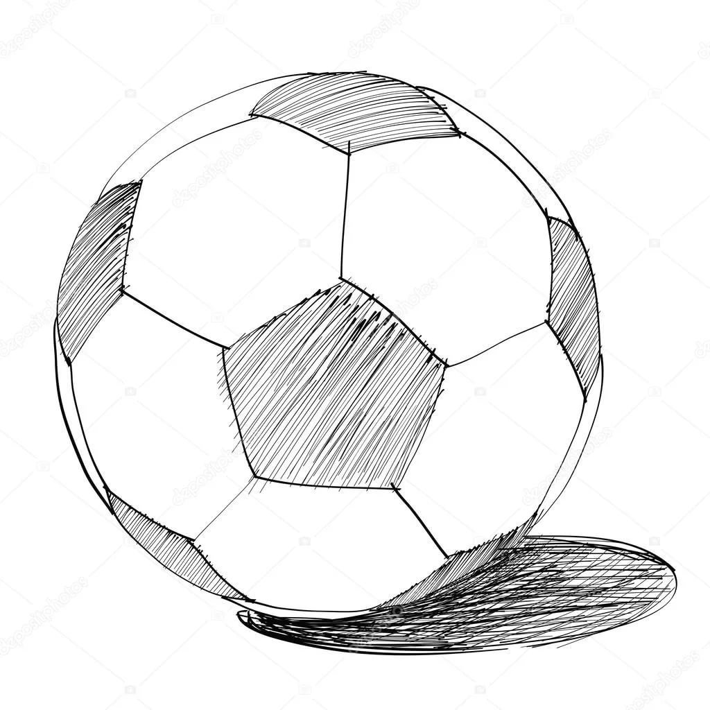 Картинка карандашом мяч футбольный