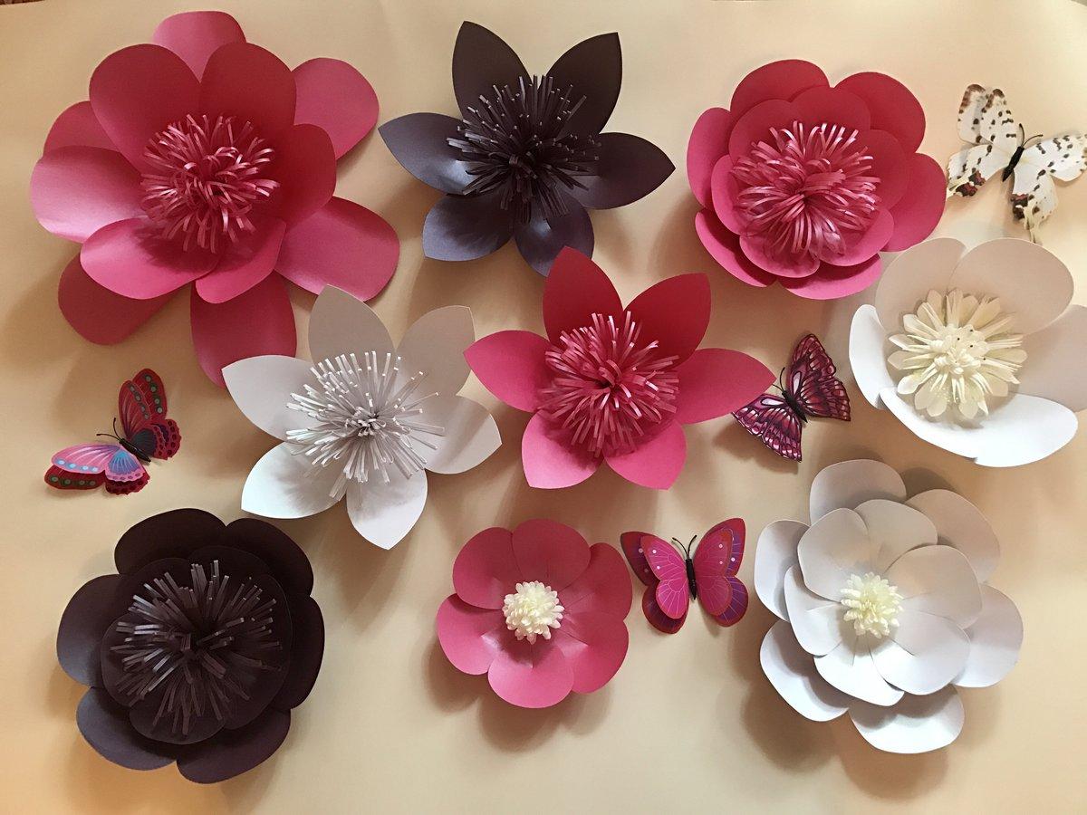 Картинка цветов из бумаги