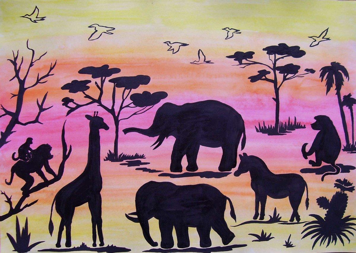Африка картинки рисунки