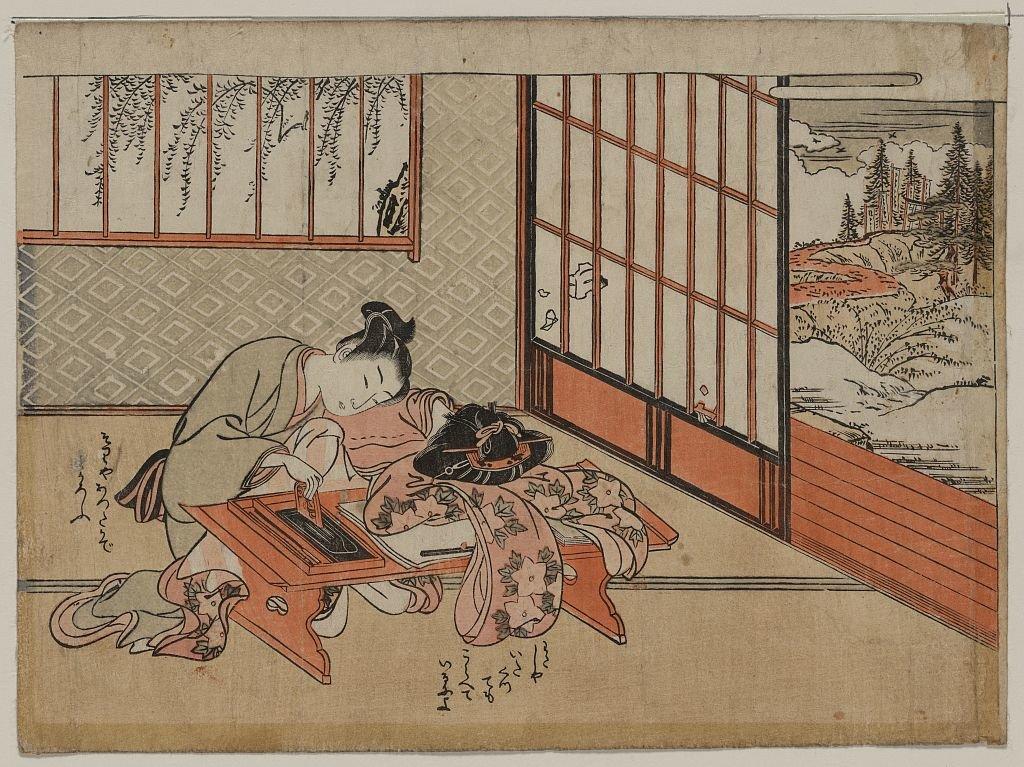 Открытки, японские старинные картинки