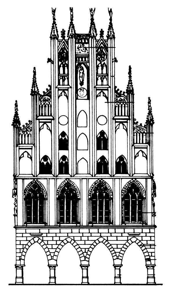 картинка готического здания символизирует связывание пары