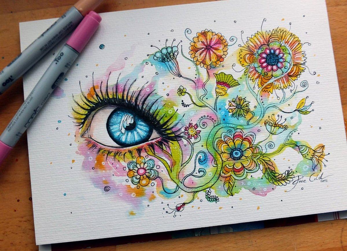 Картинки которые можно рисовать фломастерами