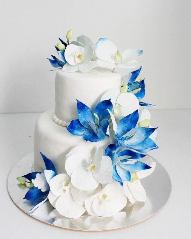 Февраля, картинки свадебного торта в синем цвете