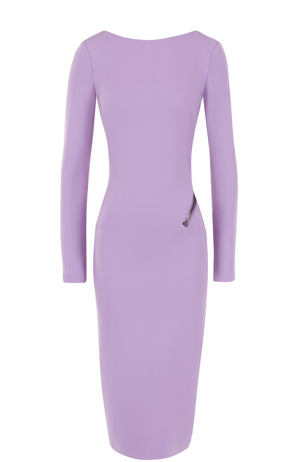 8638e3b058f Женское сиреневое платье-футляр с открытой спиной TOM FORD ...