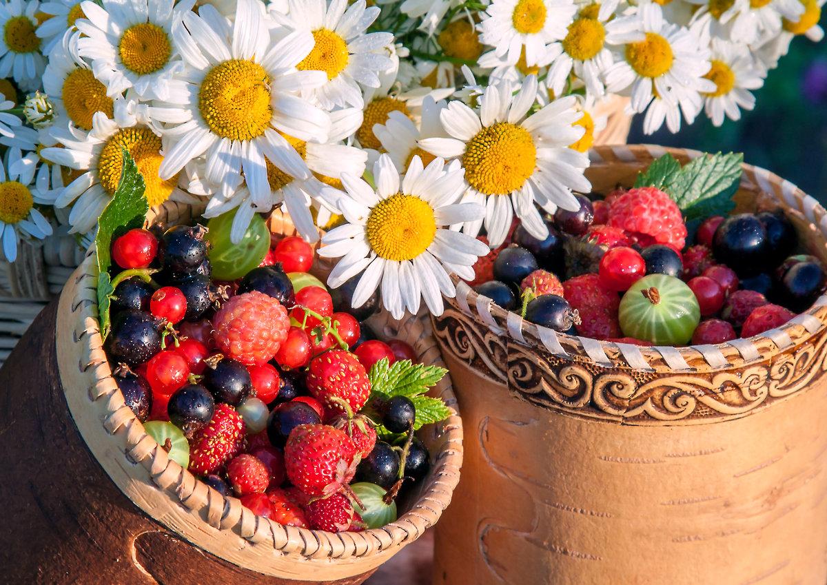 Открытки с цветами и ягодами, лет свадьба