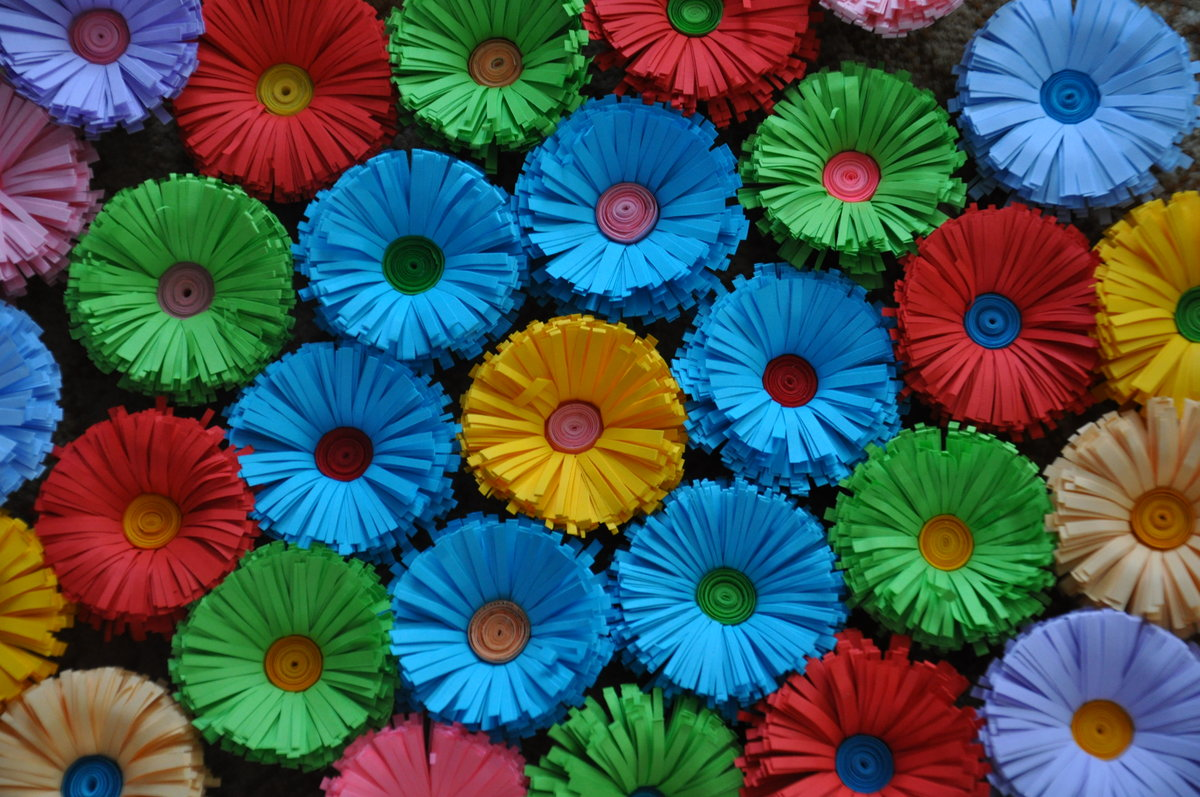 Цветочная поляна картинки своими руками